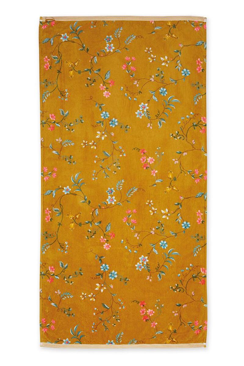 Color Relation Product XL Bath Towel Les Fleurs Yellow 70x140 cm