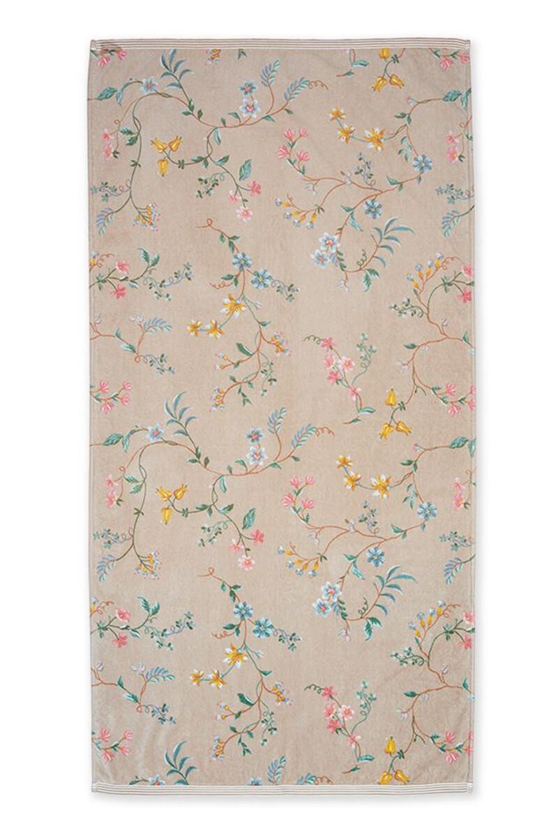 Color Relation Product XL Bath Towel Les Fleurs Khaki 70x140 cm